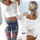 Sexy Womens Fashion Long Sleeve Pullover Ladies Loose Baggy Casual Tops Jumper