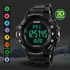 Digital Watch Sport Cycling 3D Pedometer Heart Rate Monitor Calories Waterproof