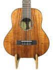 Alulu Solid 5A Curly Hawaiian Koa Baritone Guitarlele with Hard Case BGUE37-38
