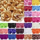 20pcs Artificial Big Rose Head Flowers Bride Bouquets Wedding Decorations 70mm