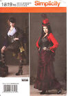SteamPunk Bustle dress PATTERN Simplicity 1819 Neo Victorian 6-22 Industrial Age