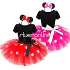 Baby Girls Kids Minnie Mouse Polka Dots Tutu Skirt Halloween Party Costume Dress