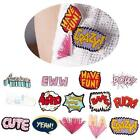 2x Acrylic Brooches Cute Letters Pins Badge Corsage Cartoon Brooch Jewellery BC