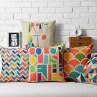 Modern Colorful Geometry Bop Throw Pillow Case Decor Cushion Cover Square Linen