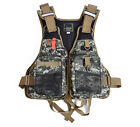 Outdoor Size Adjustable Camo LifeJacket Fishing Backpack Chest Vest Muti-Purpose