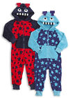 Boys Robot Hooded Micro Fleece All in one 2-3 to 5-6