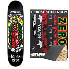 ZERO Skateboard Deck STAINED GLASS REISSUE LOPEZ 8.375 with MOB Griptape