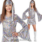 CK882 Disco Darling Girls 70s Retro Hippie Go Go Groovy Hippy Dress Up Costume