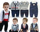 infant baby boy clothes cotton one-piece party daily bodysuit cool gentleman
