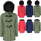New Womens Ladies Warm Winter Fur Hooded Fashion Comfort Parka Jacket Coat Sizes