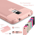 Armor Hybrid Rugged Rubber Protective Hard Case Cover For Samsung Galaxy Note 4
