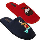 Ladies Womens Novelty Xmas Slippers Winter Warm Festive Cosy Slip On Mules Shoes