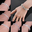 Women Elegant Bracelet Bling Crystal Rhinestone Cuff Bangle Fashion Jewelry Gift