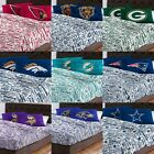 NFL Bed Sheet Pillowcase Set - Football Team Name Anthem Bedding Accessories