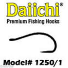 DAIICHI 1251 Bead Head Black Hook 100ct box fly tying hooks
