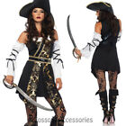 CA81 Leg Avenue Black Sea Buccaneer Pirate Womens Fancy Dress Halloween Costume