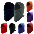 SNOOD 4in1 Winter warmer Fleece Mens scarf BLACK Hood Balaclava Neck Face Mask A