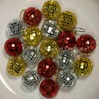 16 Piece Lot 30 mm Mirror Christmas Ball Ornament Hanger #50803765 Choose Color
