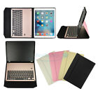 "For iPad Pro 12.9"" Aluminum Bluetooth Keyboard W/ Leather Case Stand Cover New"