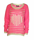 Women`s Wallis New Fluffy Pink Knit Jumper UK Sizes 10-12-14-16