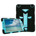 Rubber Hybrid Heavy Duty Armor Shockproof Stand Case Cover for iPad mini/air/Pro