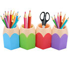 Brush Pencil Cup Holder Kids Box Pen Storage Home Vase Container Hot