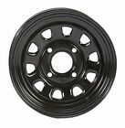 2-ITP Delta Black Steel Wheel Front Yamaha 02-14 550/660/700 Grizzly 4x4 -373632
