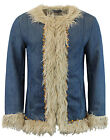 NEW MADCAP ENGLAND MENS RETRO 60s AFGHAN COAT in DENIM Jacket Sixties Mod MC269