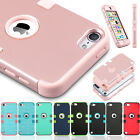 For iPod Touch 5/6th Gen Hybrid Rubber Gel PC Shockproof Armor Impact Case Shell