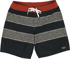 Brixton Barge Boardshorts Black/Red
