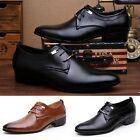 Men Faux Leather Formal Shoes Male Lace Up Loafers Breathable Comfy Flats New