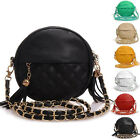 Mini Women Lady Fashion Shoulder Handbag Leather Sling Chain Round Bag Tassels