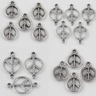 Lots 15/30Pcs DIY Jewelry Making Tibet Silver Hollow Peace Out Patterns Pendants