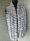 New real rex rabbit fur scarf /braid cape/ shawl / collar soft and warm 5colors
