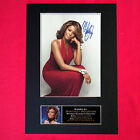 WHITNEY HOUSTON Mounted Signed Photo Reproduction Autograph Print A4 213