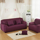 Colorful Stretch Solid Color Chair Sofa Cover 3 Seater Couch Furniture Slipcover
