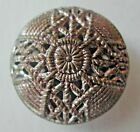 Domed Openwork Mirror Back Metal Button