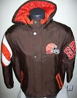 CLEVELAND BROWNS STARTER KNOCKOUT Winter Jacket 3X, 4X, 5X BIG MAN'S SIZES