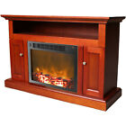 "Cambridge Sorrento 47"" TV Stand with Fireplace"
