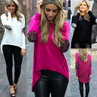 Fashion Womens Ladies Long Sleeve T Shirt Blouse Top Casual Loose Tops Size 6-18
