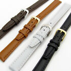 Ladies' Smooth Padded Replacement Leather Watch Strap 10mm 12mm 14mm 4 Colours