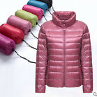 New Womens light-minded Duck Down Jacket stand collar Coats Outwear 6Color