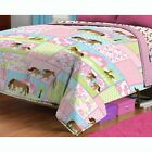 nEw GIRLS THEMED BED COMFORTER Hello Kitty Barbie LaLaLoopsy Blanket Cover