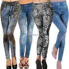 Morbido Slim Matita Pantaloni Attillati Donna Leopardato Leggings Jeggings