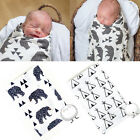 Soft Muslin Baby Swaddling Blanket Newborn Infant 100% Cotton Swaddle Towel Wrap