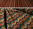 NOW REDUCED !! Zig Zag  / Chevron Muliti Coloured Wool Blend Stretch Knit Fabric