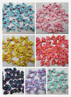 10-500pcs Mini Ribbon Bowknot Gift DIY Wedding Decoration Lace Free Shipping