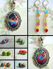 RAINBOW NECKLACE EARRINGS PIERCED EARS ROSE HEARTS STRIPES PRIDE