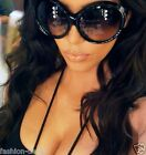 Sunglasses OVERSIZED Round Circle SHIELD Large Lens Women Ali Celebrity XXL MASK