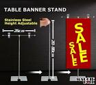 Pack 2x 5x 10x Stainless Steel Table Banner Stand A3 A4 SHOP RETAIL DISPLAY